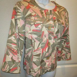 RUBY RED MULTI COLOR SHORT JACKET SIZE 10